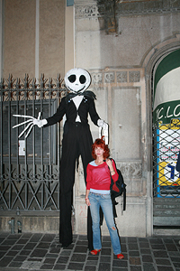 Statue vive della Rambla di Barcelona a Bra